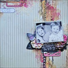 Magnifique Mixed Media - Home Is Wherever I'm With You - Scrapbook.com