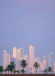 No, this is not the Miami, FL skyline.  This is Panama City, Panama