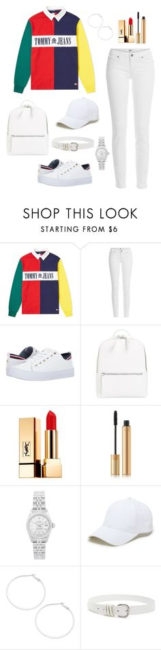 """""""Untitled #356"""" by bajka2468 on Polyvore featuring Tommy Hilfiger, Paige Denim, Chelsea28, Yves Saint Laurent, Rolex, Sole Society, Design Lab and Forever 21"""