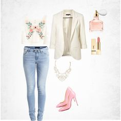 Spring by amra-f on Polyvore featuring polyvore fashion style H&M Object Collectors Item Guerlain Pink Flowers