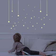 Stickers étoiles phosphorescentes pour la chambre bébé