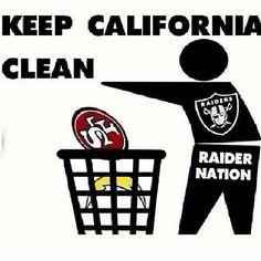 Keep Cali Clean / Raider Nation  Haaa! Raider nation 4 life