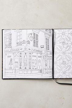 Paris Street Style Coloring Book
