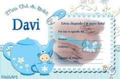 Convites Prontos Chá De Bebê Para Editar E Imprimir Baby