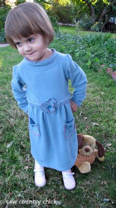 Sew Country Chick: fashion sewing and DIY: A Refashioned Sweater Tutorial: The Gigi Toddler Dress