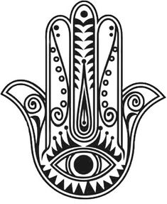 Hamsa Hand Temporary Tattoo by mossandferndesignco on Etsy
