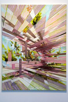 David Schnell - Ecke, 2008  oil and acrylic on canvas via Flickr