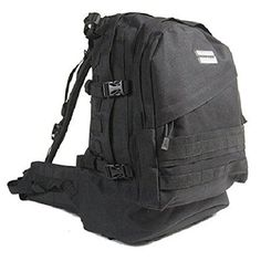 HUMVEE HMVGB02BLK Double Reinforced Day Pack with Compression Handles Black * You can find out more details at the link of the image.