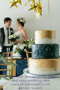 800x800 1390263830836 3 tier star wars inspired gold and navy wedding ca