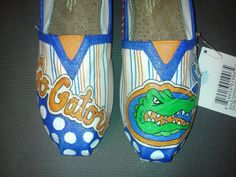 Florida Gators hand painted TOMS by MyHeartToYourSole on Etsy, $105.00