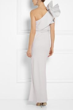 b1cbb4bbf6a6 Lanvin - White Ruffled One-Shoulder Crepe Gown - Lyst
