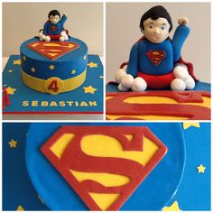 Superman Cake.  White Chocolate Raspberry Mud! Finesse Cakes by Ingrid