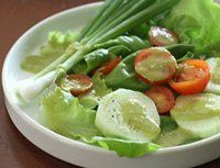 Garlic Scape Dressing - substitute 1 C cashews soaked in water for oil to make ETL.  Delicious!