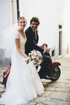 #scooter  Photography: Stefano Santucci - www.tastino0.it  Read More: http://www.stylemepretty.com/2014/11/05/elegant-villa-wedding-in-tuscany/