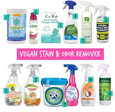 Vegan and Cruelty-Free Laundry Stain and Odor Removers