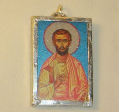St James Pendant Brother of Christ inv1668 by saintlyimagesandmore