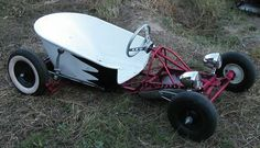 Wheelbarrow on a go cart frame: