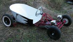 Wheelbarrow on a go cart frame: