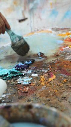 Large Abstract Wall Art, Large Canvas Art, Diy Canvas Art, Art Painting Tools, Abstract Painting Techniques, Diy Painting, Figure Painting, Painting Lessons, Painting Tutorials