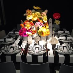 Spring entertaining. AD's table at #DIFFA #diningbydesign at #adshow2013. Photo by archdigest