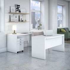 Shop for Office by kathy ireland Echo Bow Front Desk and Credenza with Mobile File Cabinet. Get free delivery at Overstock.com - Your Online Office Furniture Store! Get 5% in rewards with Club O! - 22396861