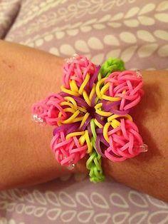 Rainbow Loom Hibiscus Flower Bracelet