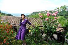 12 giugno ·    #AbitoinBasilicata Titolo : Purple things Artigiano : Marcella Laurita Fotografia : Michele D'Acclesia Luogo : Baragiano (PZ) Abito e bolero con orecchini in pizzo bianco e pietra pendente