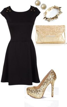 I like this outfit. It would be perfect for New Years Eve.