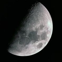 An image of the half moon taken using a webcam on a skywatcher 150p, you need to capture different areas of the moon one at a time as the field of view is to narrow. These separate images were then aligned in photoshop to create this complete image.