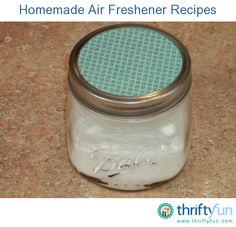 This page contains recipes for homemade air fresheners. Make homemade air fresheners to help mask or neutralize household odors.