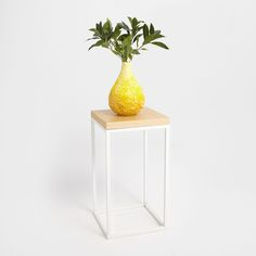 Image 1 of the product Square natural and white side table