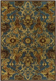 PAVE' PERSIAN TAPESTRY Rug (size: 2.11X7.6) By Couristan shape:RUNNER by Couristan. $169.00. Rug colors may vary depending on screen resolution.. Color: STEEL BLUE/BRONZE. RUNNER. Collection: PAVE?. Powerloomed. PAVE' PERSIAN TAPESTRY Rug (size: 2.11X7.6) By Couristan shape:RUNNER Color: STEEL BLUE/BRONZE, Country of Origin TURKEY, Rug Construction Powerloomed With a Pile Height of 0.43 In Dimensions: 2.11X7.6