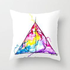 harry potter Throw Pillow by Simona Borstnar - $20.00