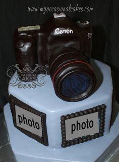 Canon Mark III Camera Cake (Topper)  Cake by OccasionalCakes
