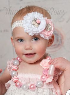 Diadema de bebé diademas de bebé venda de recién por ThinkPinkBows