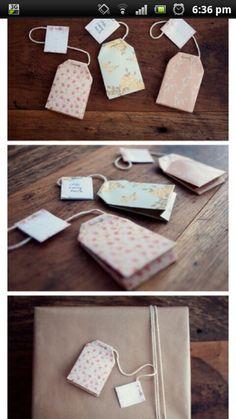 Teabag gift tags