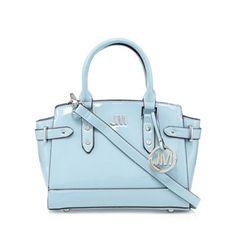 da7f32ff05 Star by Julien Macdonald Designer pale blue patent winged mini grab bag