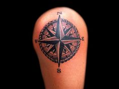 Compass Tattoo For Shoulder