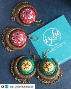 #Repost @iyla_beautiful_beads with @get_repost  Beauty and beyond  Available- green colour sold out  Floral painted earrings size -big  send a message or comment for orders  #earrings #iylabeautifulbeads #bridal #fashion #iyla #colours #beautiful #style  #fashionjewellery #india #ethinic #accessories #newarrivals #newcollections #photography #instafashion #instapic #instagood #jewellery #onlineshopping #instadaily #instagram #love #picoftheday #instafollow #chennai #instagramers