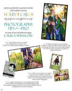 Photography tips for Holiday Photo Cards