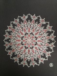 Silver and metallic pick Mandala by mariagallery on Etsy, $80.00