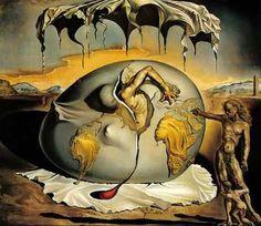 Enfant géopolitique observant la naissance de l'homme nouveau (1943)  Huile sur toile 45,5x50 cm,   Salvador Dali