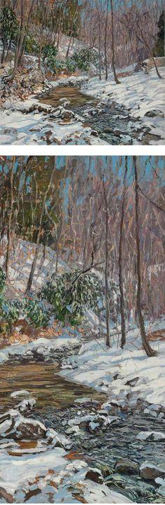 Woodland Stream, Edward Willis Redfield.