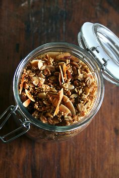 Toasted Muesli ~ This recipe is meant to be adapted to your tastes and to what you have on hand. I love the simple combo of oats, coconut, almonds and millet. If you like dried fruit, add it; if you don't the toasted muesli is delicious on its own or with fresh fruit.