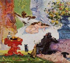 Paul Cezanne, Una moderna Olympia, 1873-1874, olio su tela, Musee d'Orsay Parigi