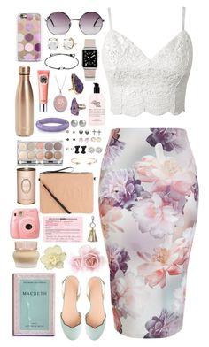 """Olivia - $2,966.48"" by shazellove ❤ liked on Polyvore featuring New Look, Monki, Casetify, Irene Neuwirth, S'well, Benefit, philosophy, Valerie Nahmani Designs, Bling Jewelry and J.Crew"