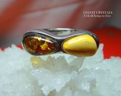 15% OFF Sale! Coupon Code: LIVEJOYOUSLY CÉLEST Crystals Amber Fiery Sterling Silver Ring Size 8 CAD$78 Click on link to Buy It Now! - https://www.etsy.com/shop/CELESTbyCelestChong?ref=hdr_shop_menu