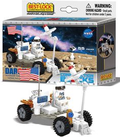 NASA Space Buggy 55 Piece, 1 Figure Construction Blocks Set - 1 Figure Included