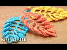 Crochet Leaf Tall Stitches Tutorial 28 Part 2 of 2 Crochet Volumetric Branches. These free crochet video instruction will help you to complete this beautiful leaf. We continue to crochet arches above each post on the leaf Crochet Leaves, Crochet Motifs, Crochet Flower Patterns, Freeform Crochet, Crochet Art, Crochet Designs, Crochet Flowers, Crochet Stitches, Irish Crochet
