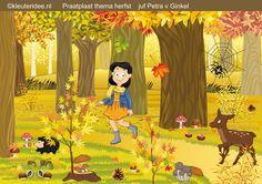 Interactieve praatplaat herfst met veel video's over de herfst, by juf Petra van kleuteridee